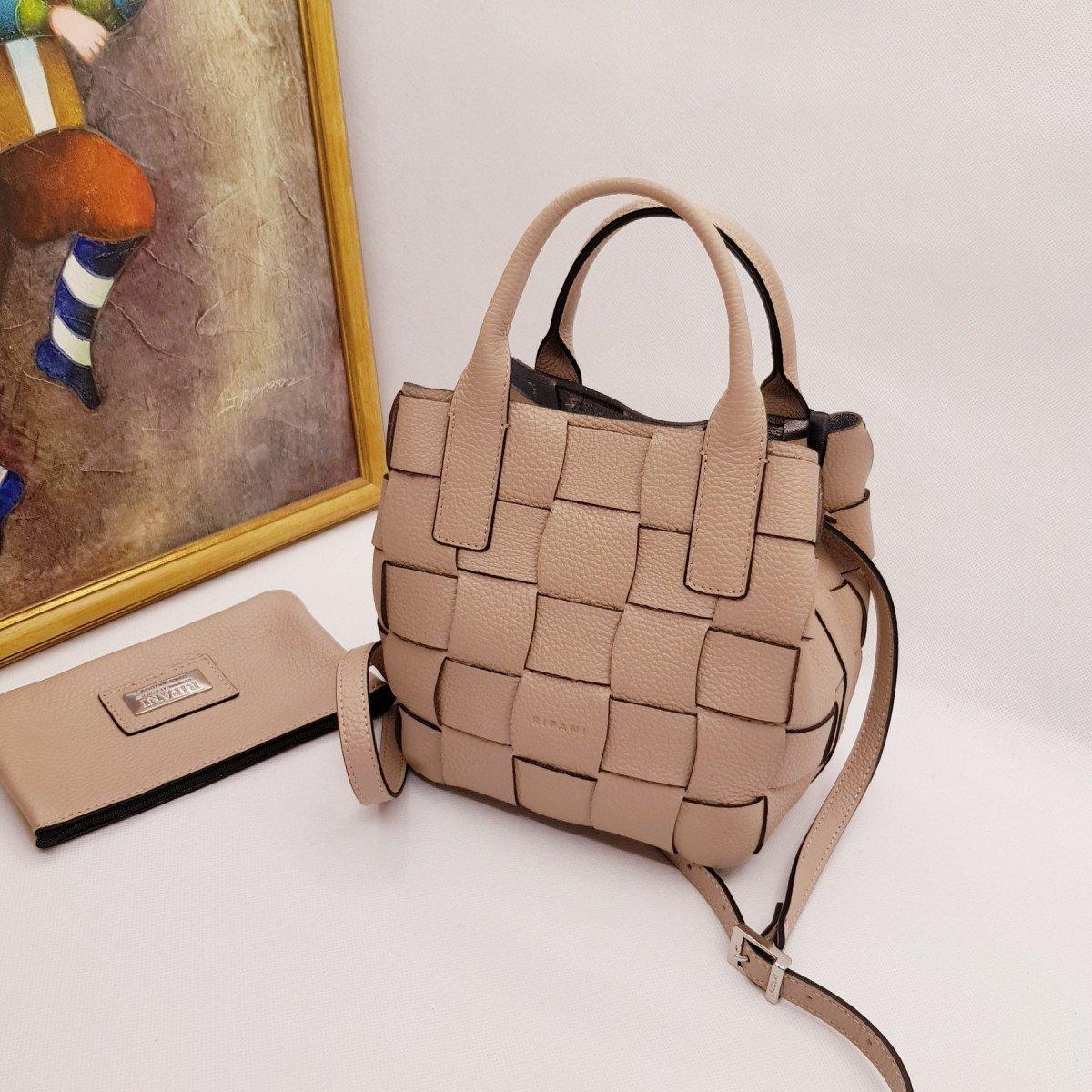 Женская кожаная сумка Ripani 2613OA Beige из натуральной кожи