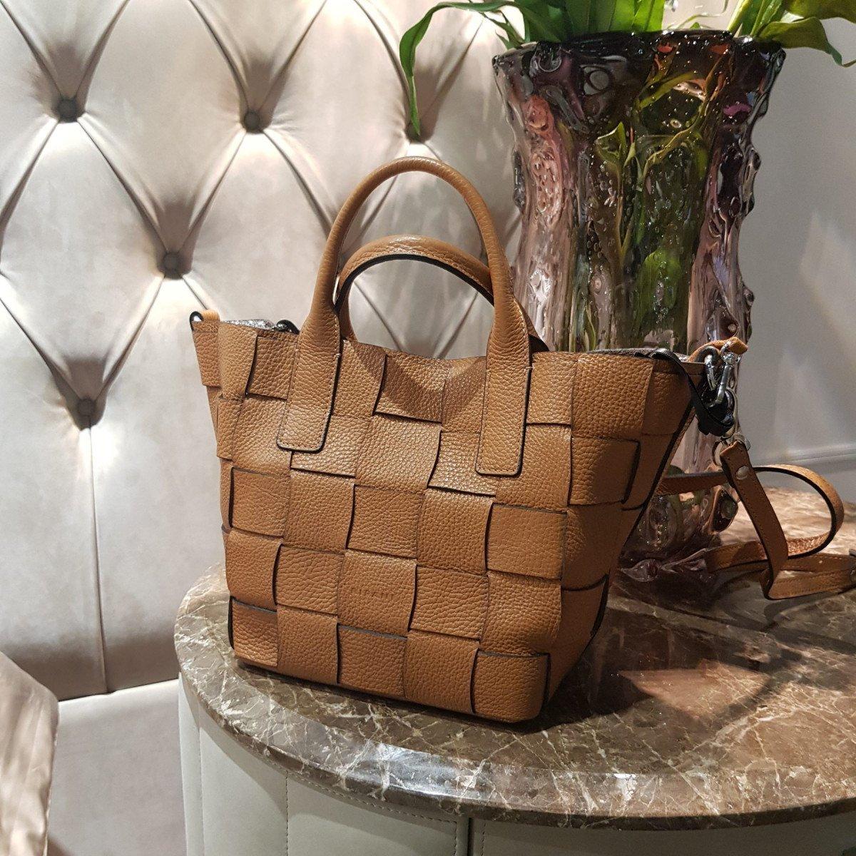 Женская кожаная сумка Ripani 2613OA Biscotto из натуральной кожи