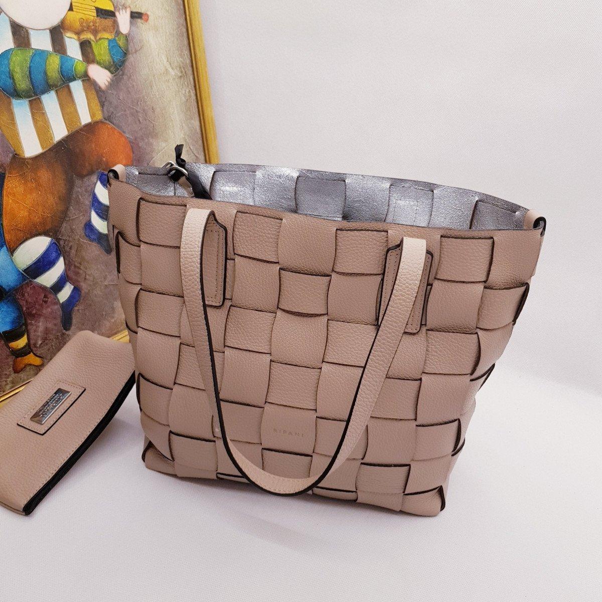 Женская кожаная сумка Ripani 2616OA Beige из натуральной кожи