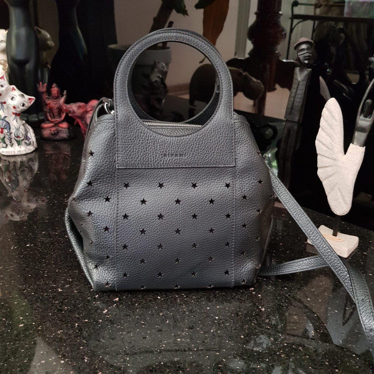 Женская кожаная сумка Ripani 3433OS Nero из натуральной кожи