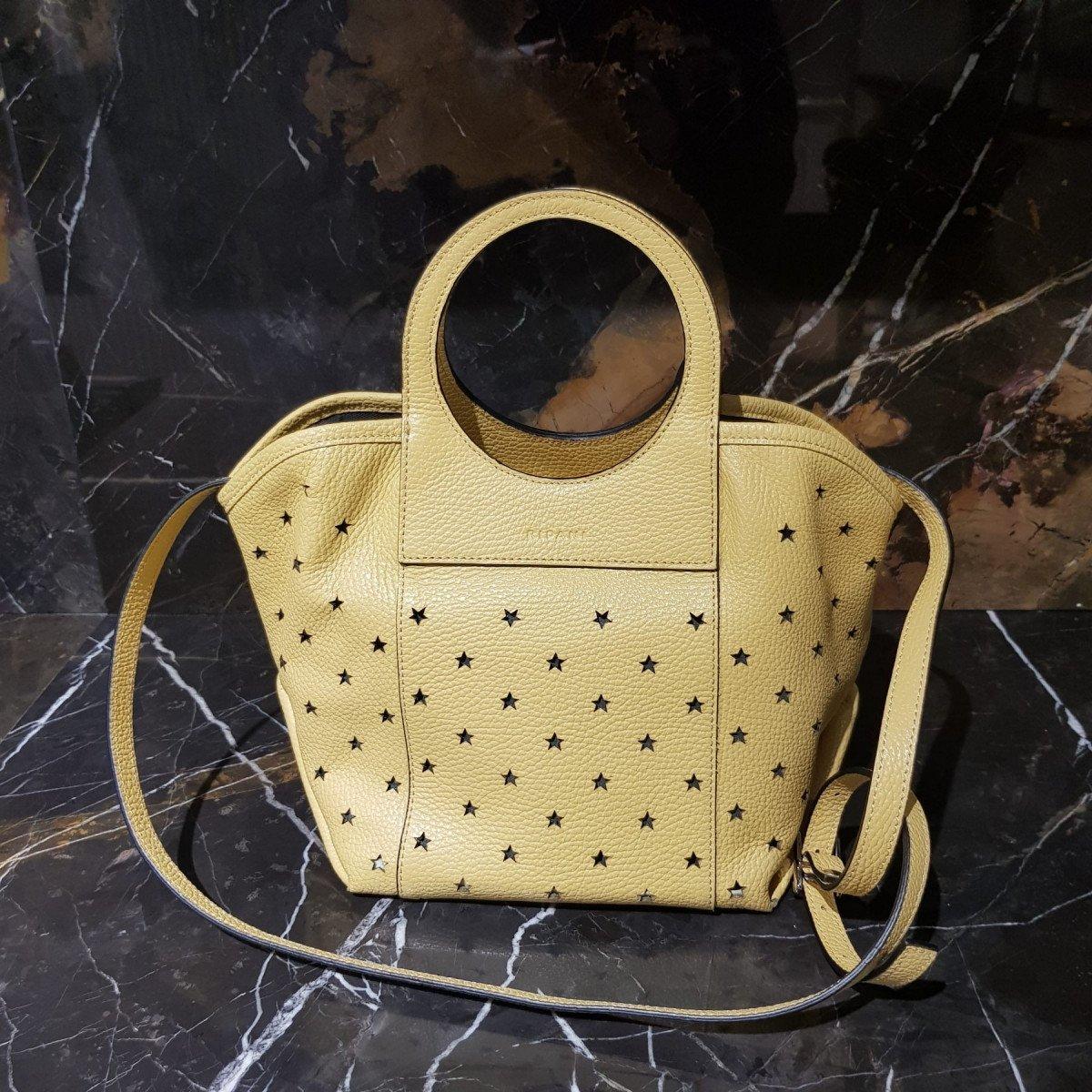 Женская кожаная сумка Ripani 3433OS Lemon из натуральной кожи