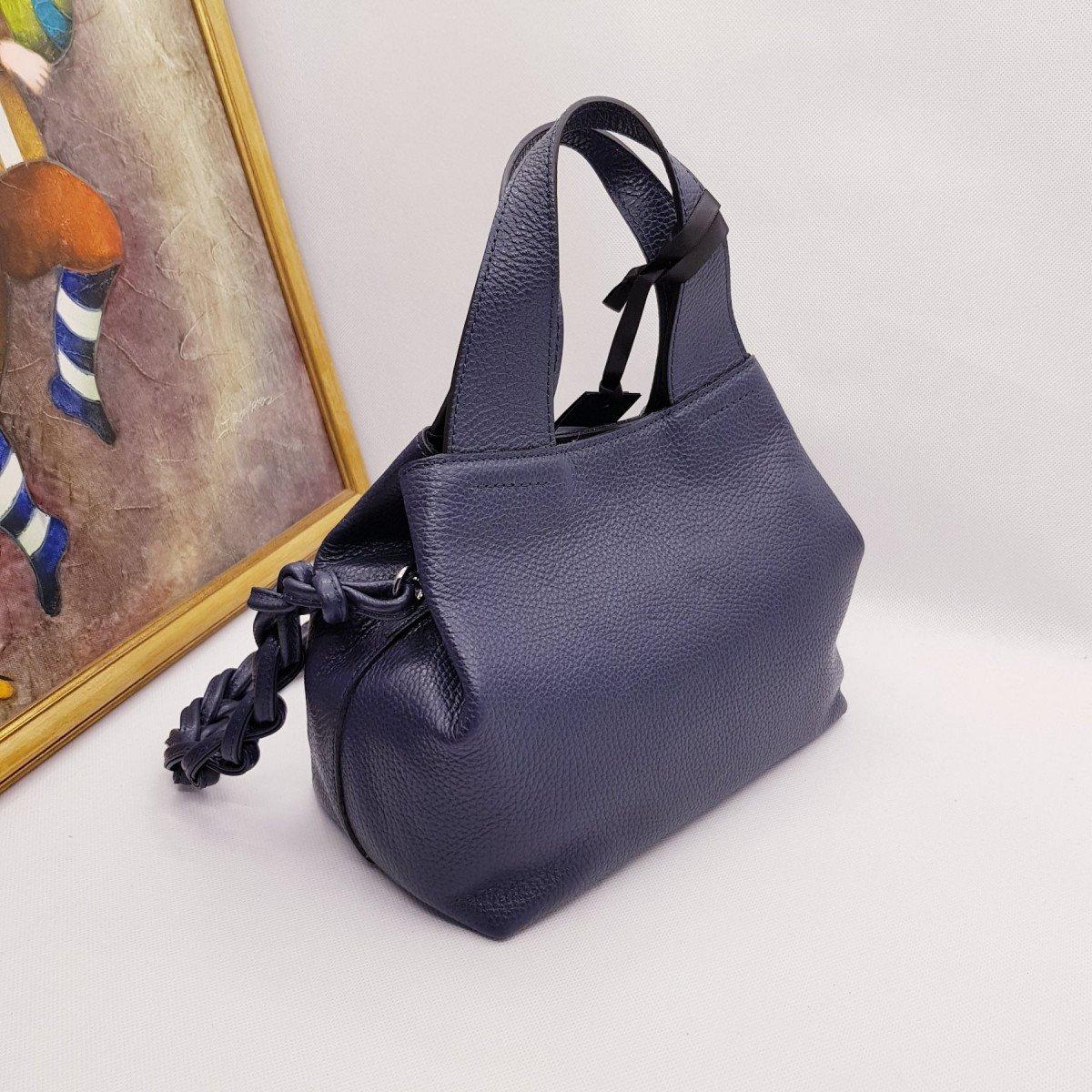 Женская кожаная сумка Ripani 9265OJ Blu из натуральной кожи