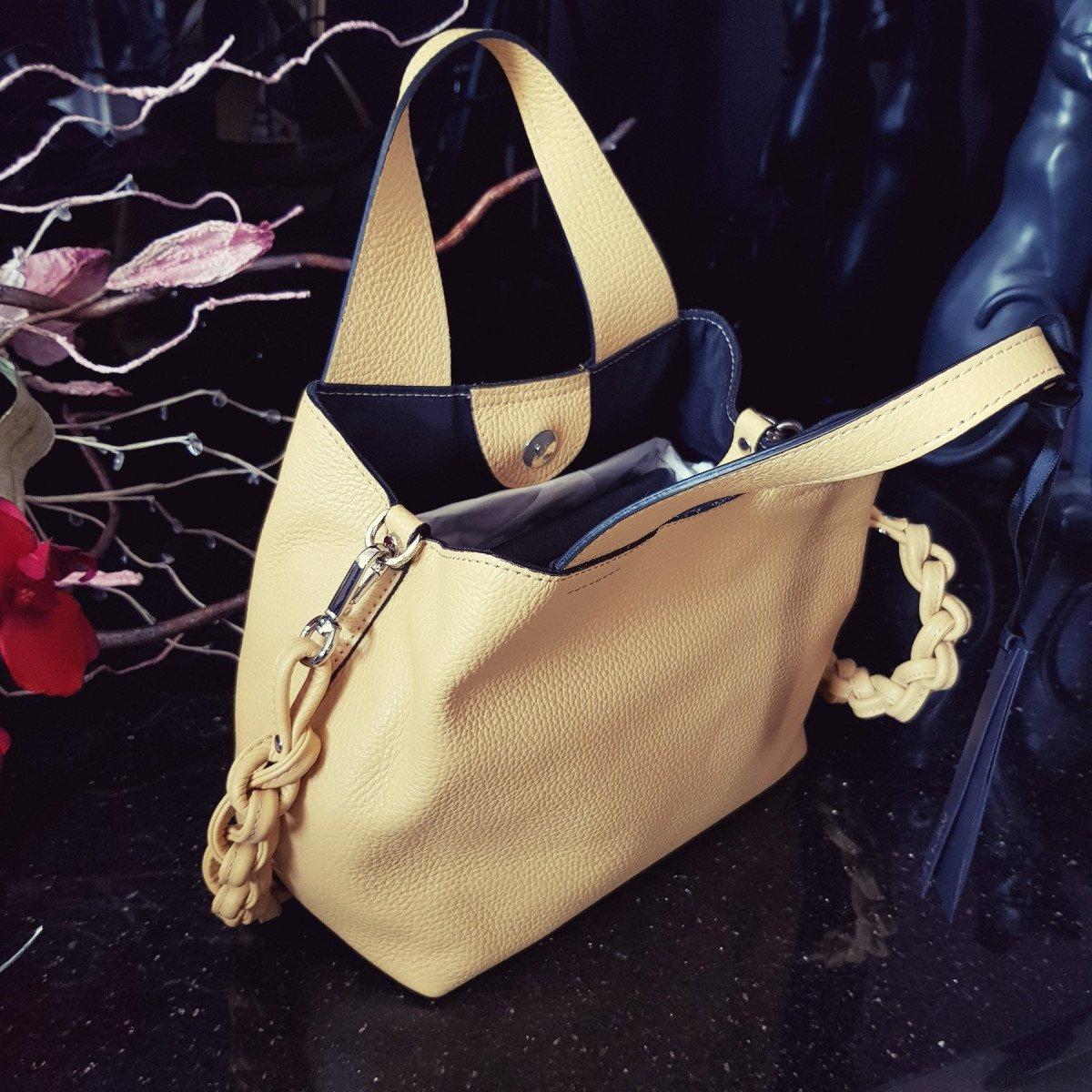 Женская кожаная сумка Ripani 9265OJ Lemon из натуральной кожи