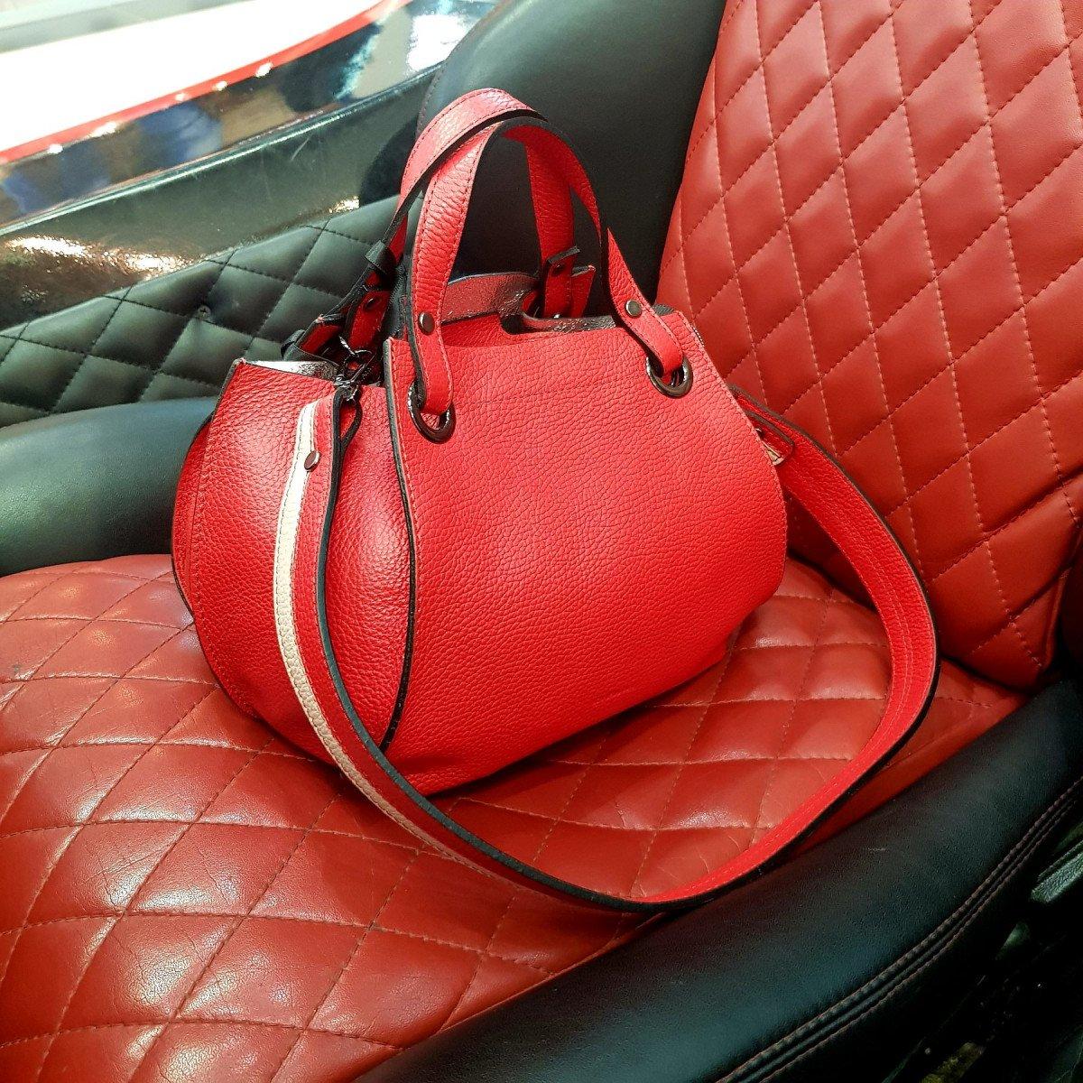 Женская кожаная сумка Ripani 9292OA Rosso Chiaro из натуральной кожи
