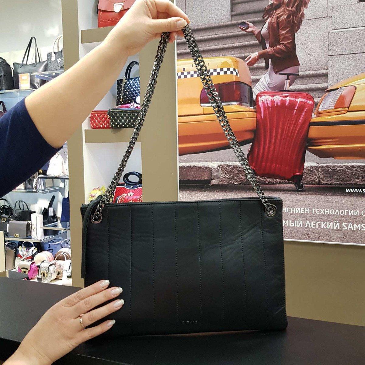 Женская кожаная сумка Ripani 9545MM.00003 nero из натуральной кожи