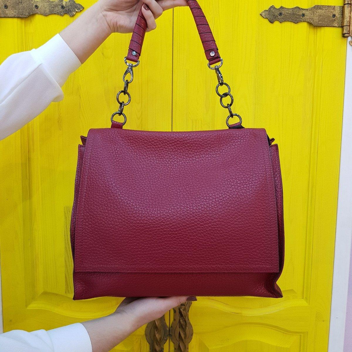 Женская кожаная сумка Ripani 9643OB.00048 rubino из натуральной кожи