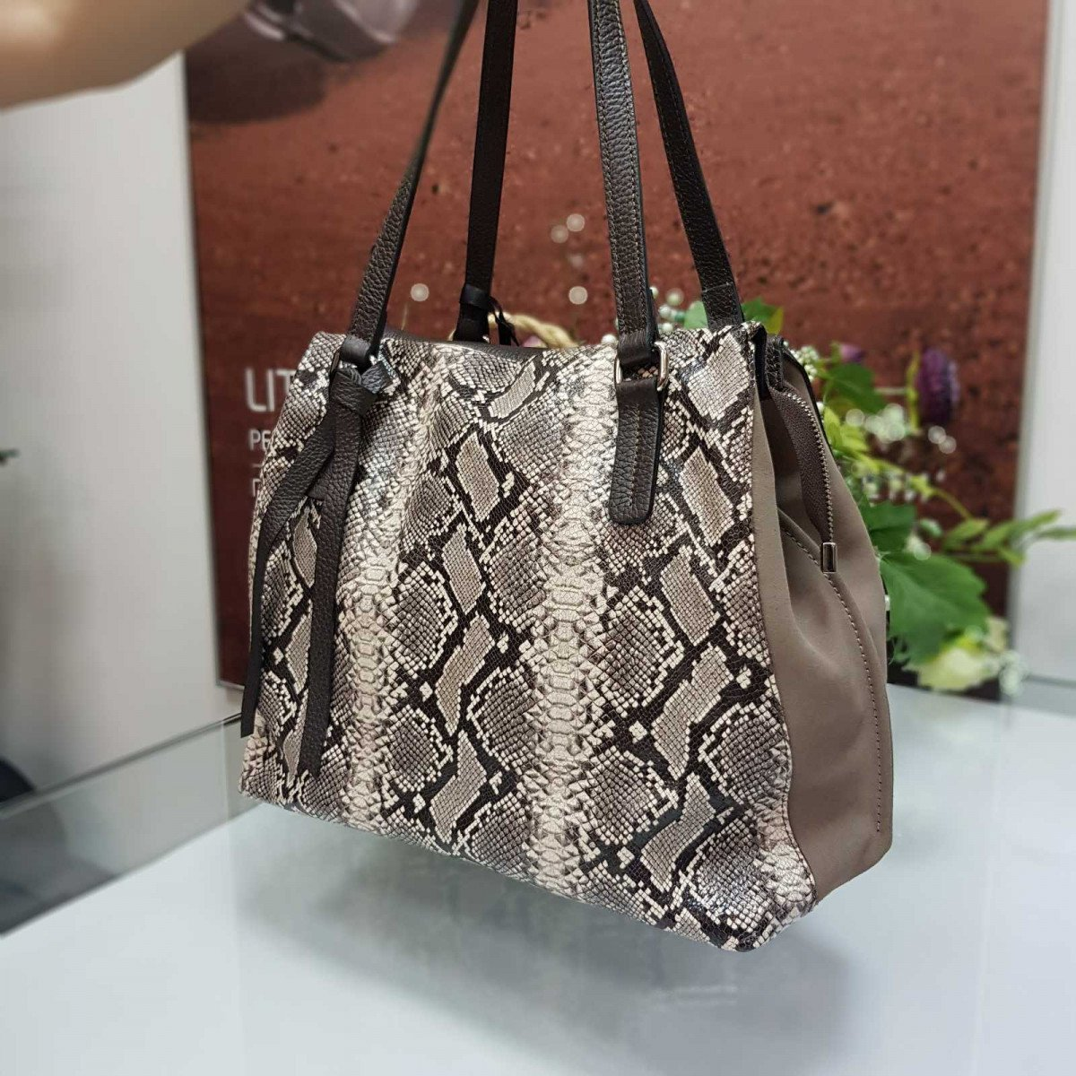 Женская кожаная сумка Ripani 9752ON.00900 roccia из натуральной кожи
