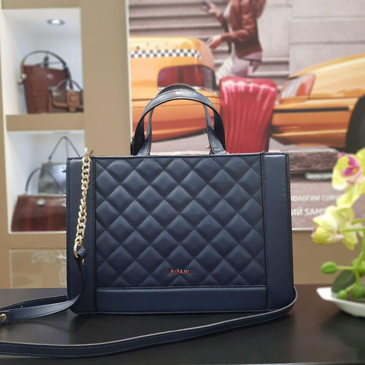 Женская кожаная сумка Ripani 9782LL.00056 navy из натуральной кожи