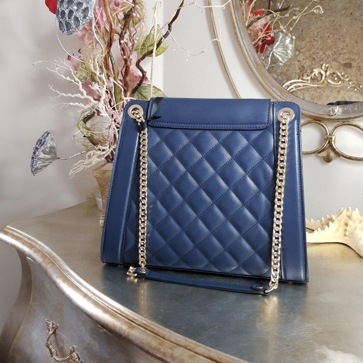 Женская кожаная сумка Ripani 9783LL.00056 navy из натуральной кожи