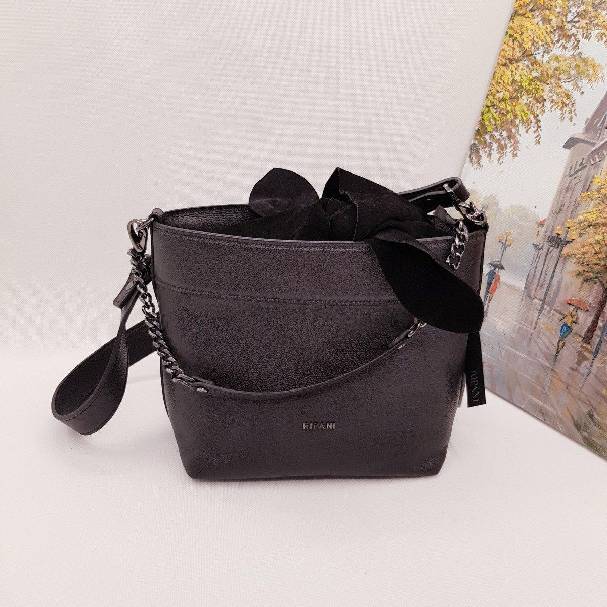 Женская кожаная сумка Ripani 9784CC.00003 nero из натуральной кожи