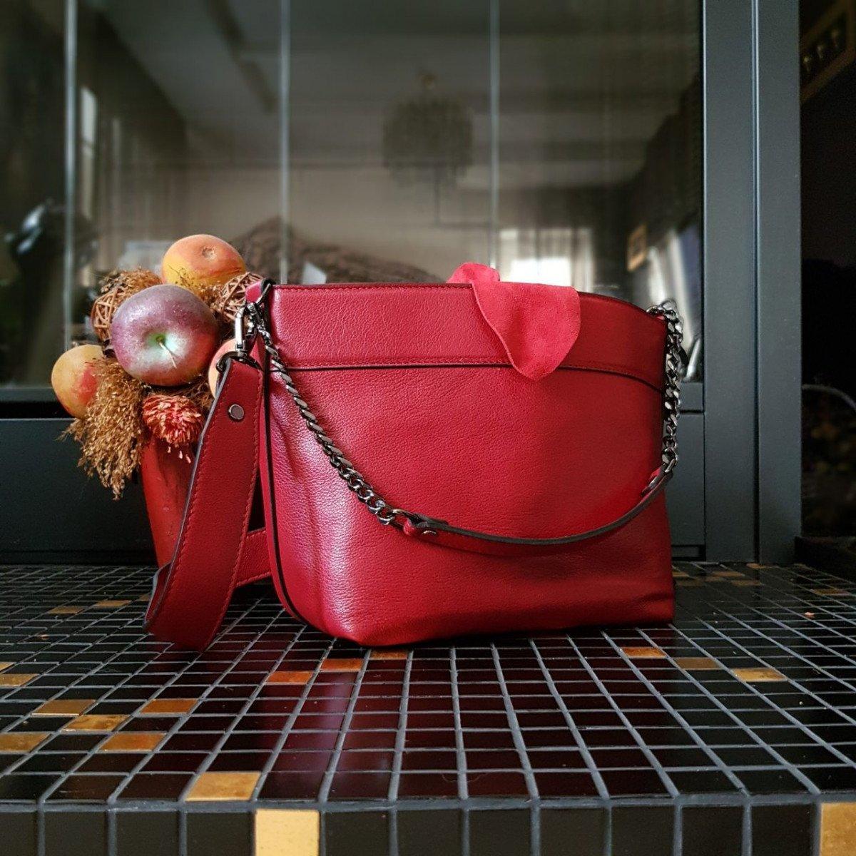 Женская кожаная сумка Ripani 9784CC.00015 rosso из натуральной кожи