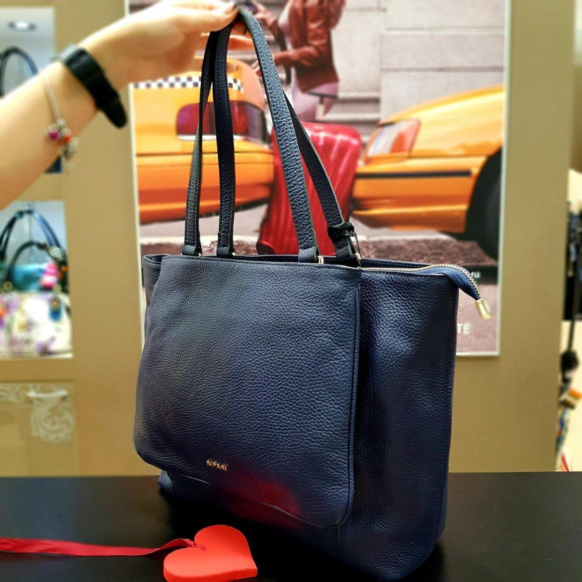 Женская кожаная сумка Ripani 9842OO.00002 blu из натуральной кожи