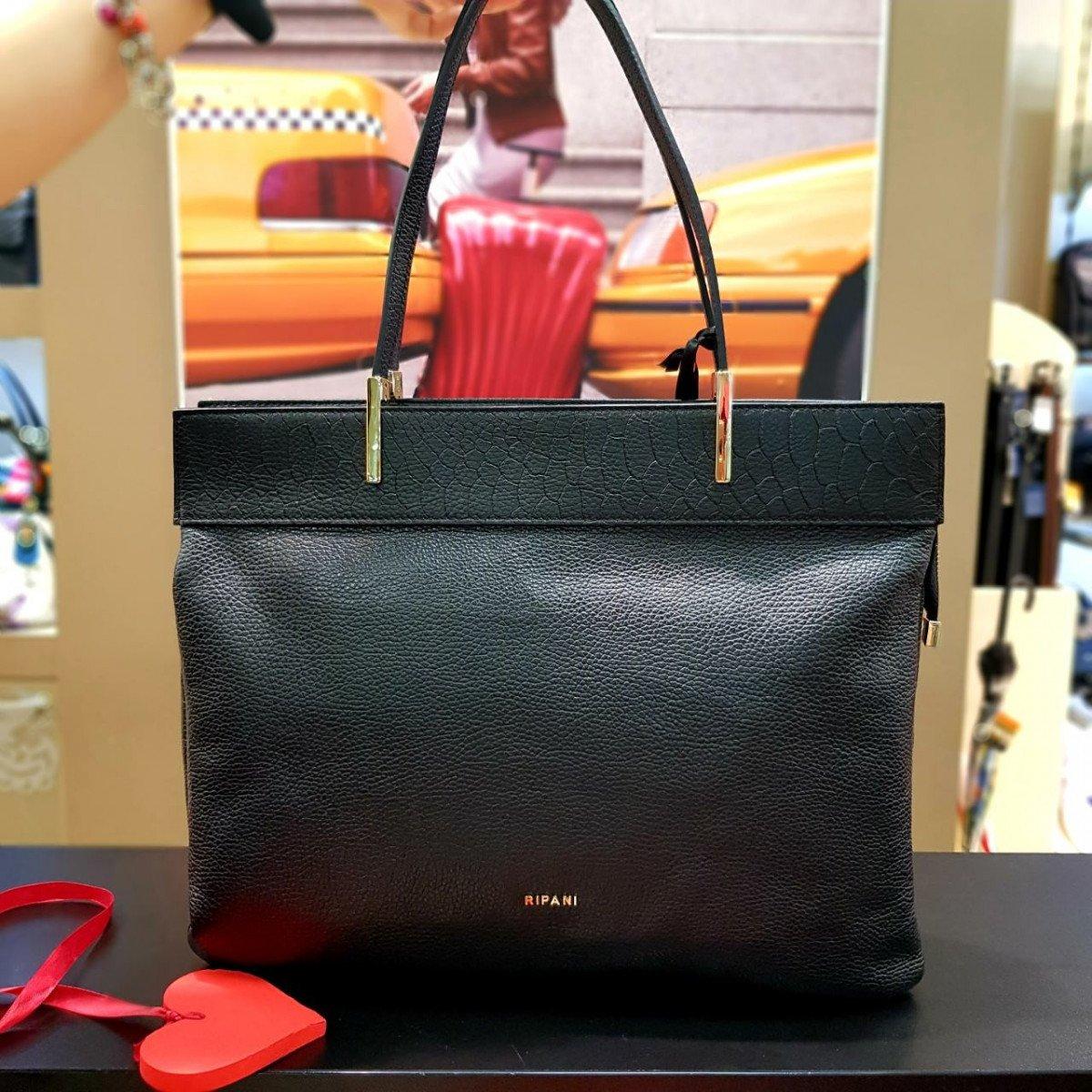 Женская кожаная сумка Ripani 9931OP.00003 nero из натуральной кожи
