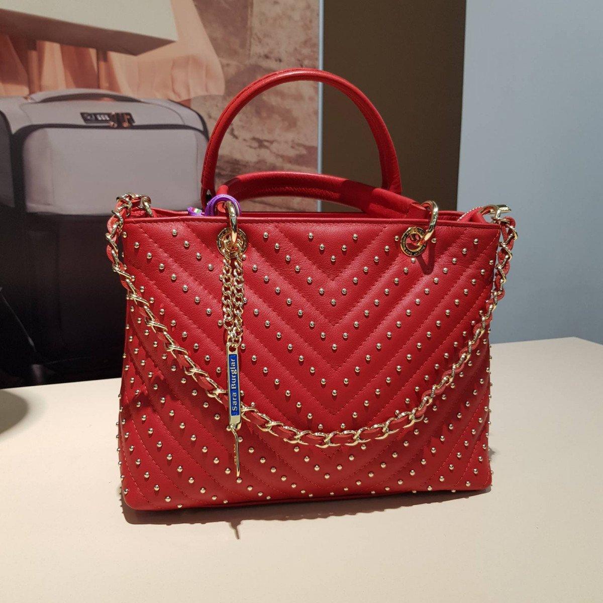 Женская кожаная сумка Sara Burglar A0S0C291 rosso из натуральной кожи