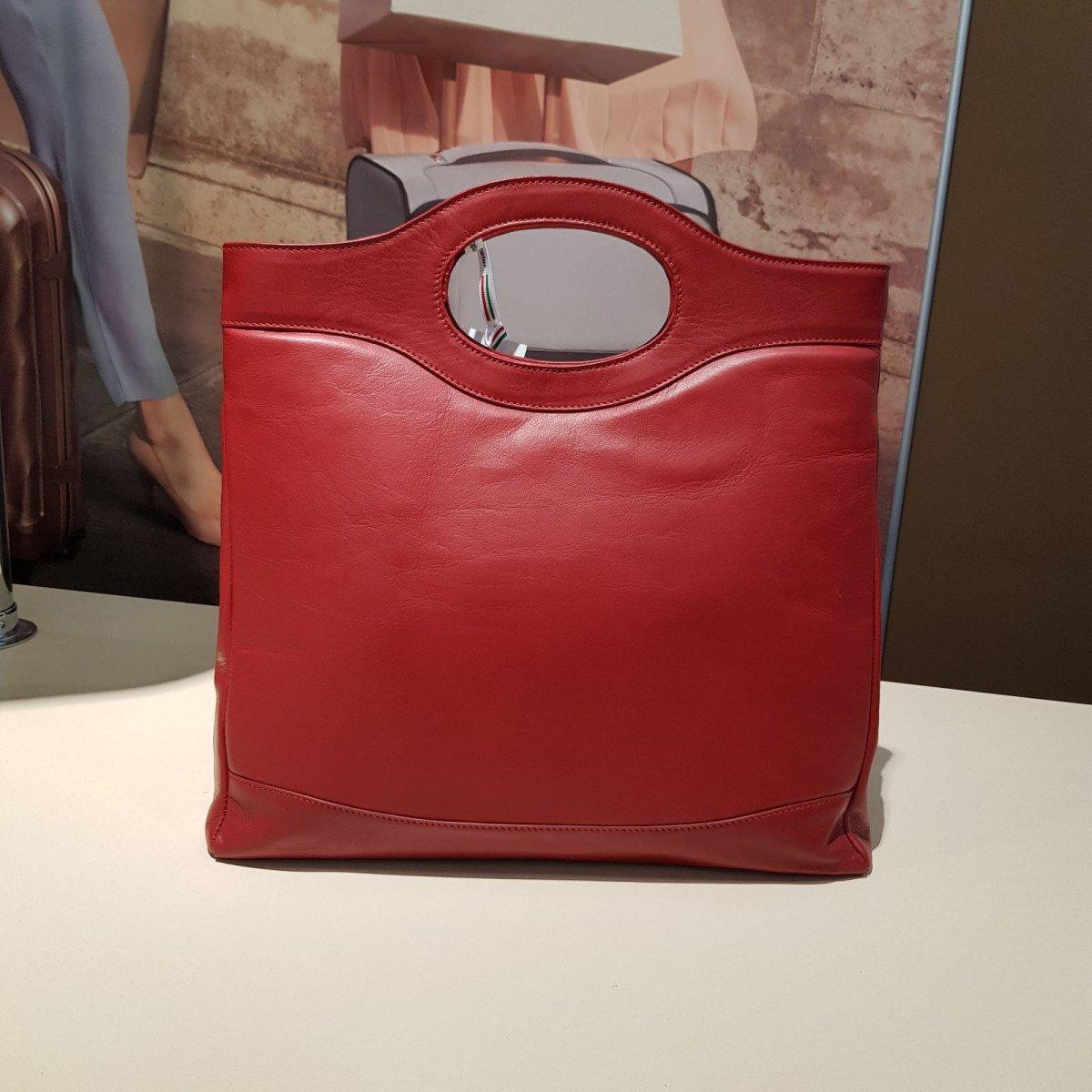 Женская кожаная сумка Sara Burglar A0S0C810 rosso из натуральной кожи