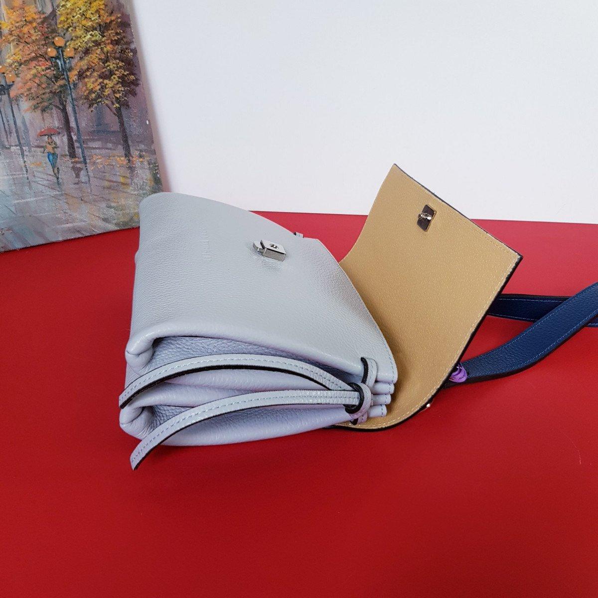 Женская кожаная сумка Sara Burglar A0S0B1114 CIELO/BLU из натуральной кожи