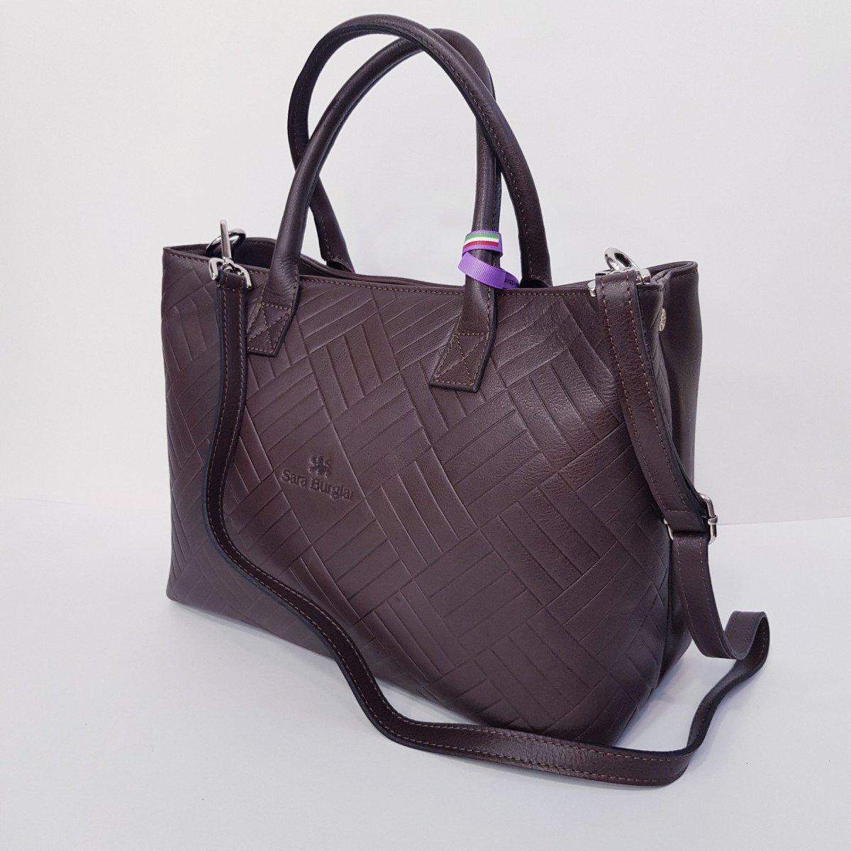 Женская кожаная сумка Sara Burglar A0S1D075 MORO из натуральной кожи