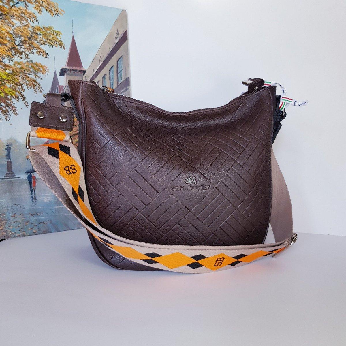 Женская кожаная сумка Sara Burglar A0S1D141 MORO из натуральной кожи