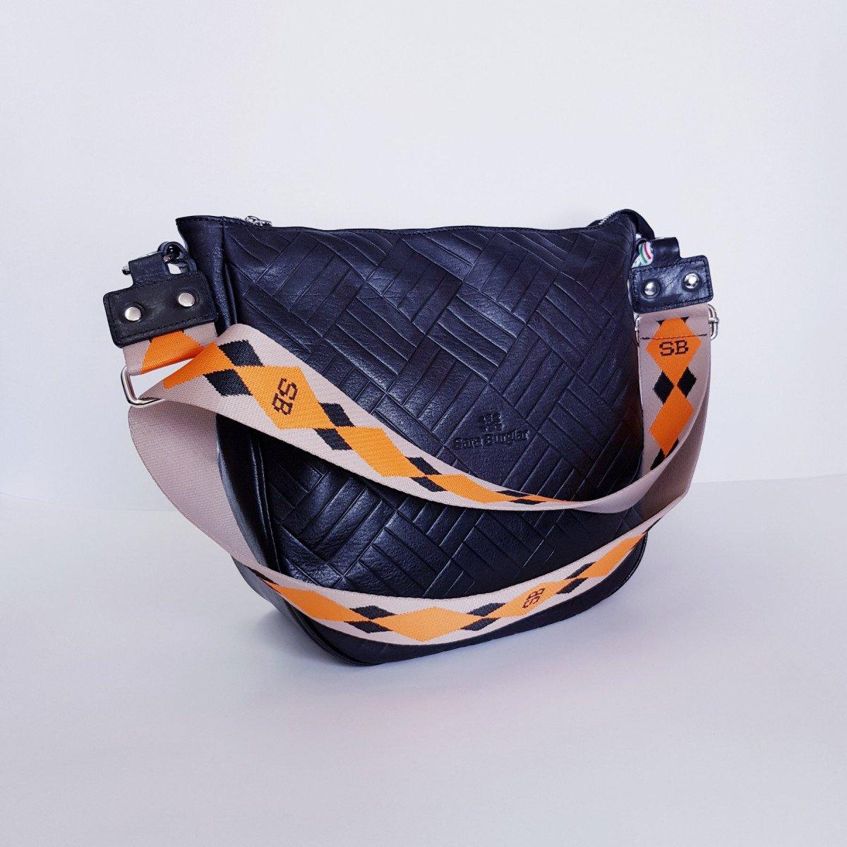 Женская кожаная сумка Sara Burglar A0S1D141 NERO из натуральной кожи