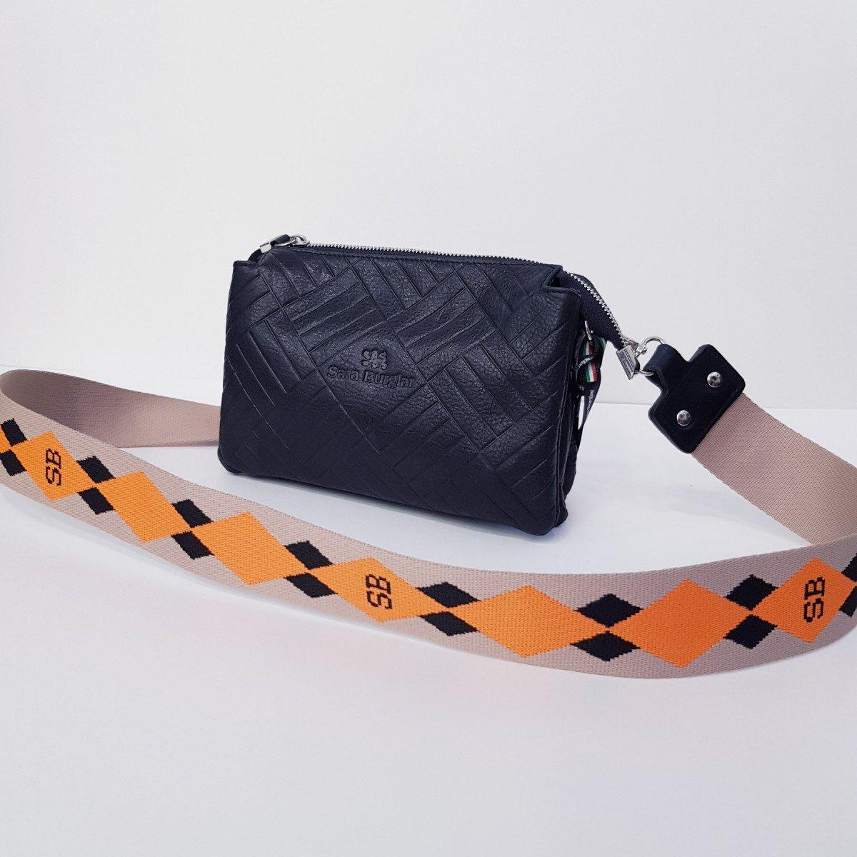 Женская кожаная сумка Sara Burglar A0S1D173 NERO из натуральной кожи