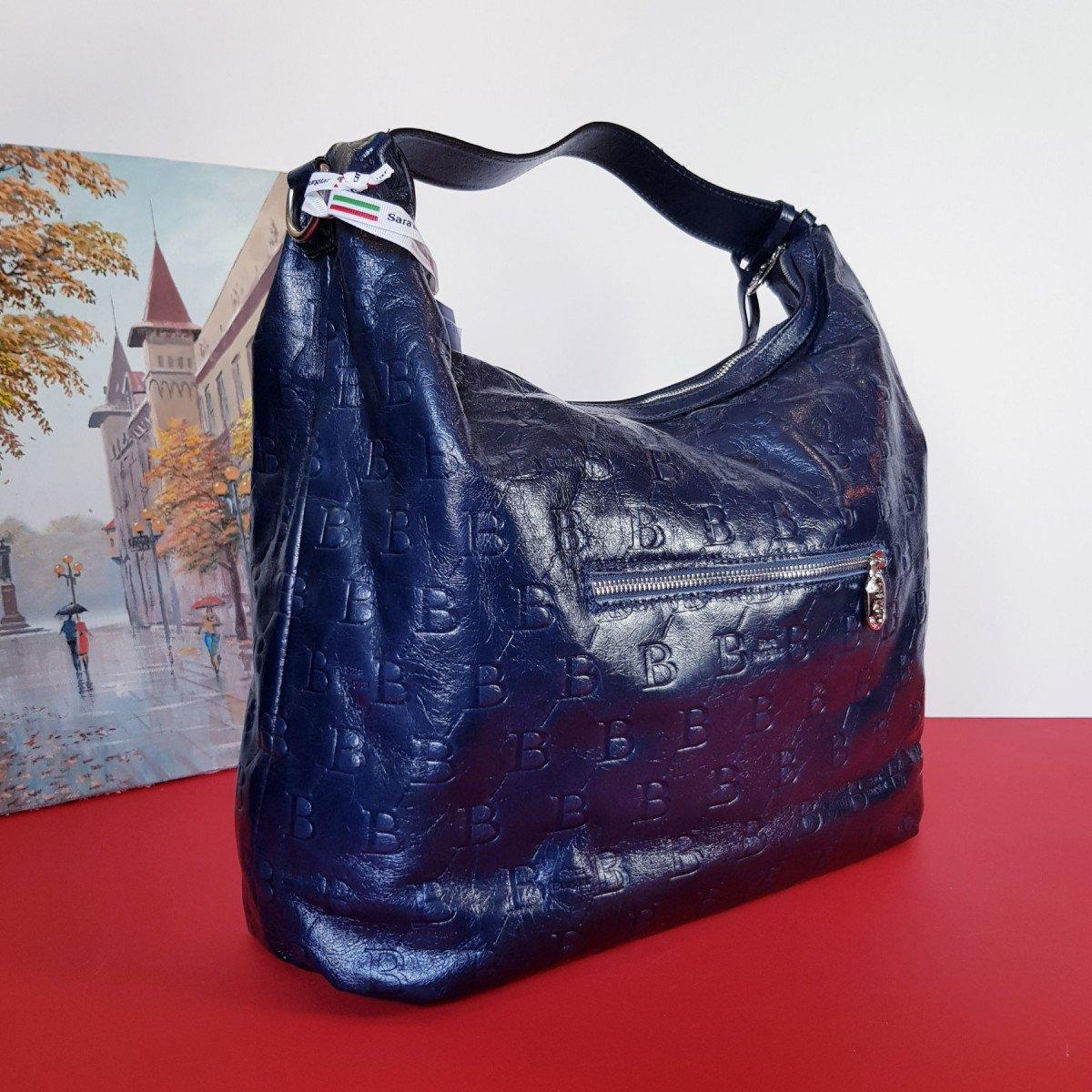 Женская кожаная сумка Sara Burglar A0S1J042 BLU из натуральной кожи
