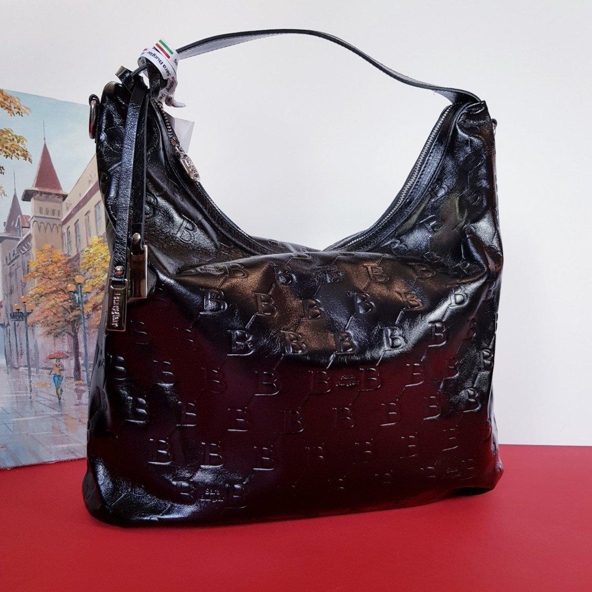 Женская кожаная сумка Sara Burglar A0S1J042 NERO из натуральной кожи