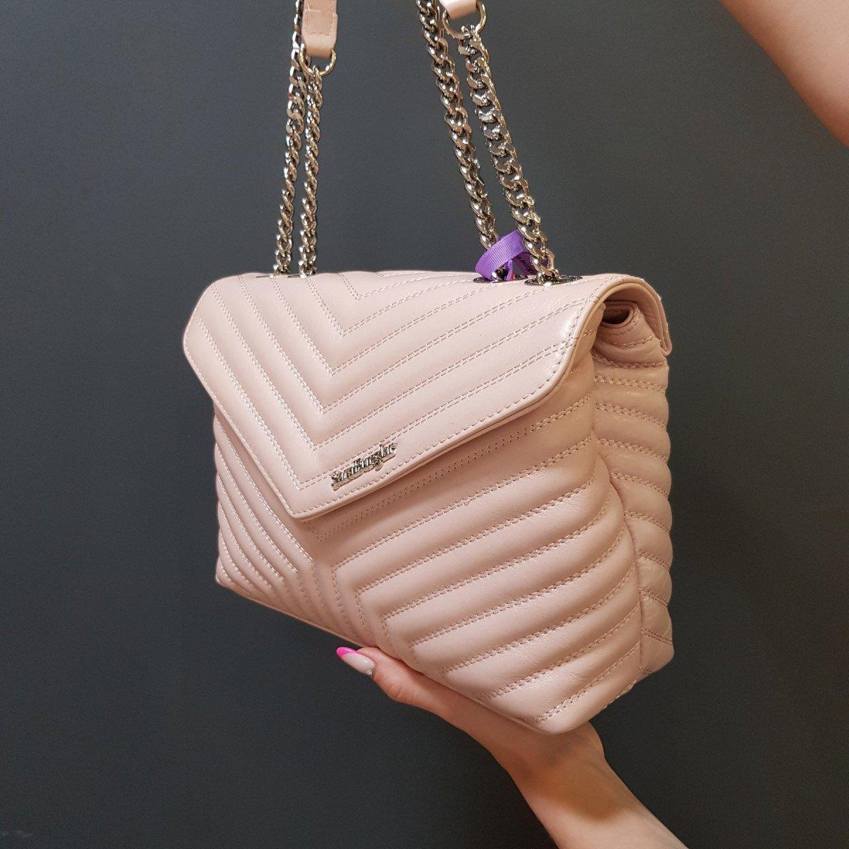 Женская кожаная сумка Sara Burglar A0S1N1171 ROSA из натуральной кожи