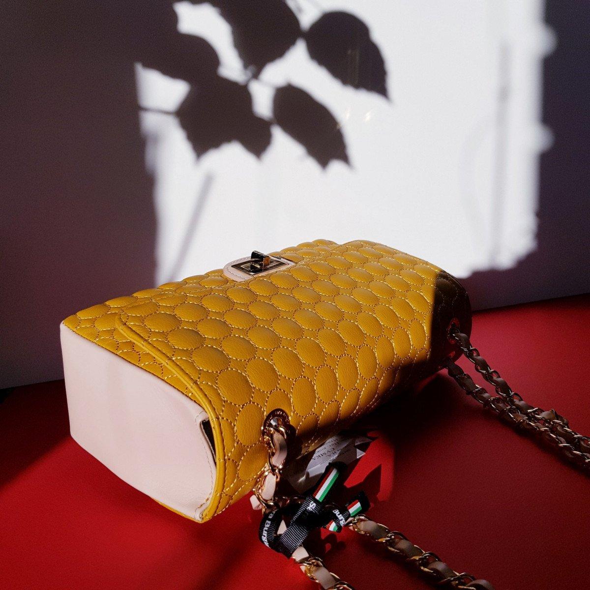 Женская кожаная сумка Sara Burglar A0S1O292 ARANCIO/OCRA/ROSA из натуральной кожи