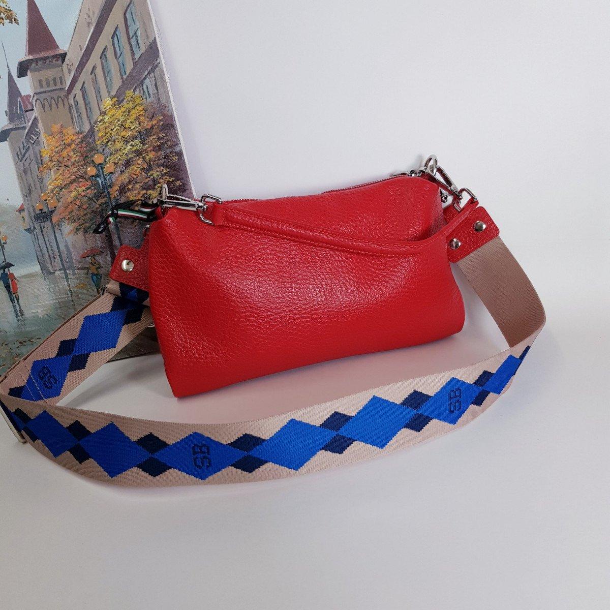 Женская кожаная сумка Sara Burglar A0S1Q1212 ROSSO из натуральной кожи