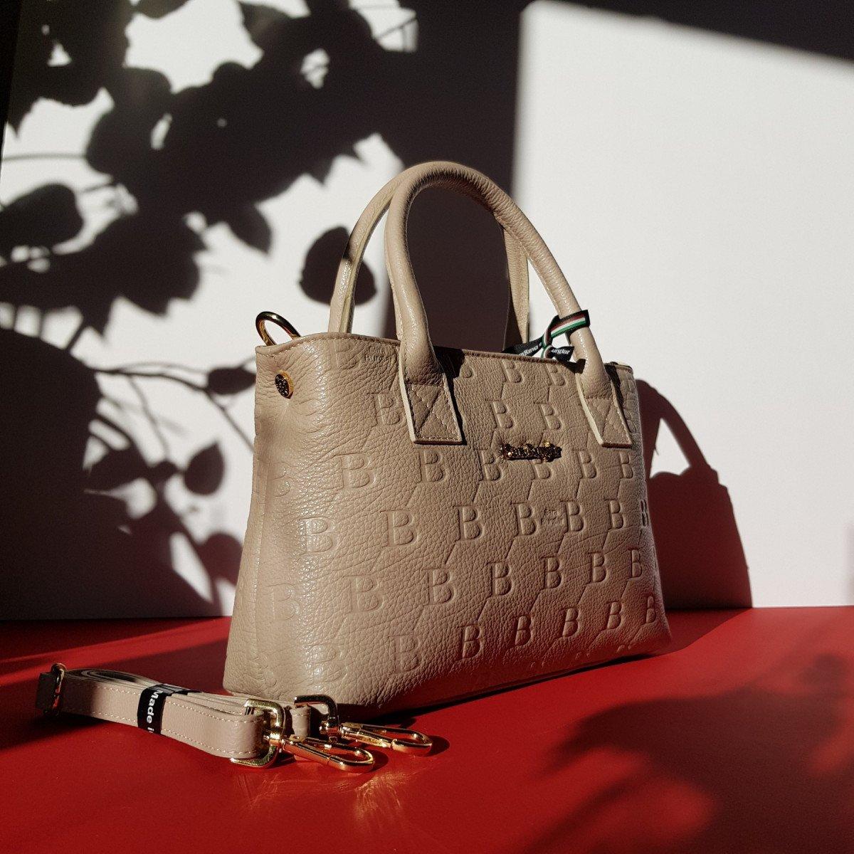 Женская кожаная сумка Sara Burglar A0S1R076 TAUPE из натуральной кожи