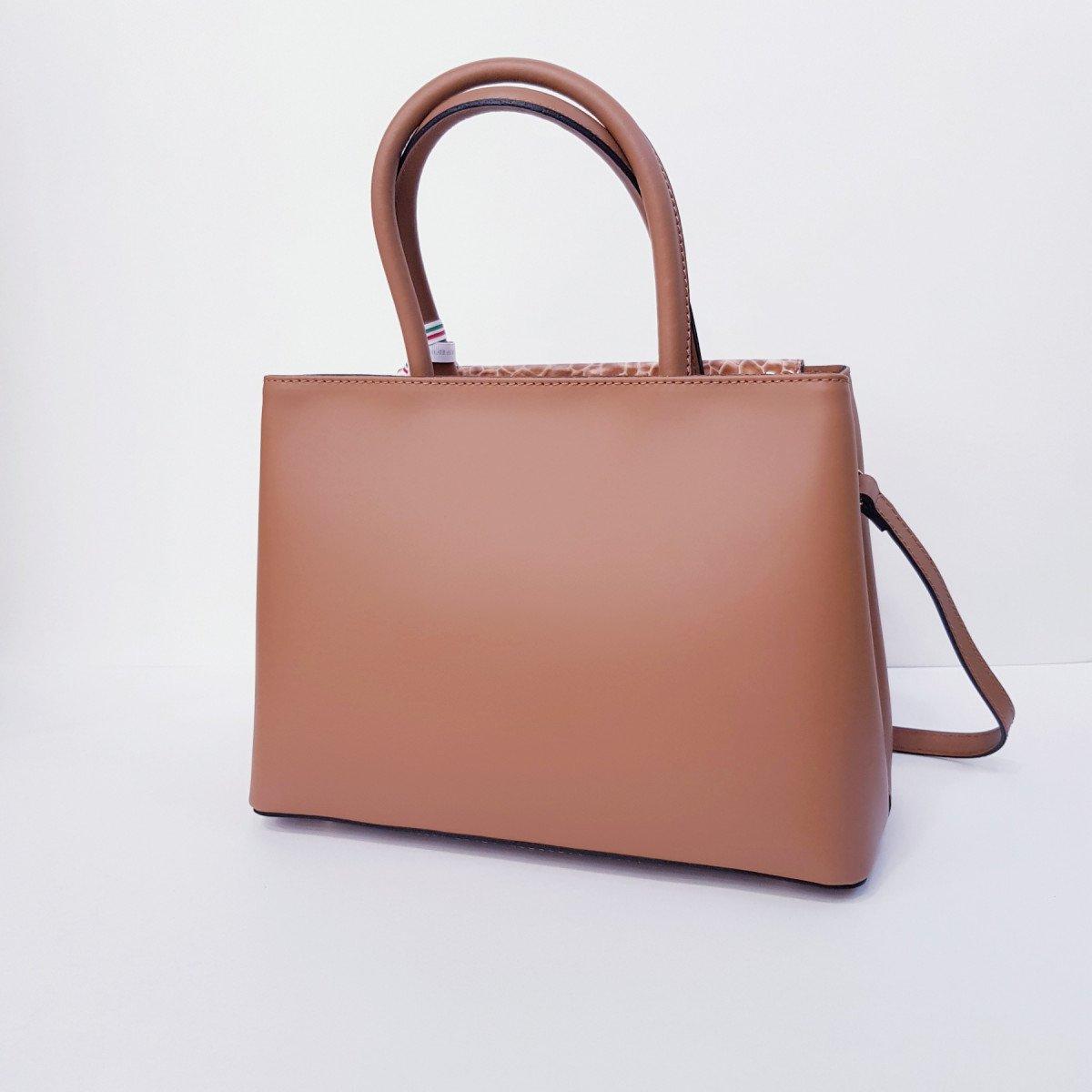 Женская кожаная сумка Sara Burglar A0S1V600 CUOIO из натуральной кожи