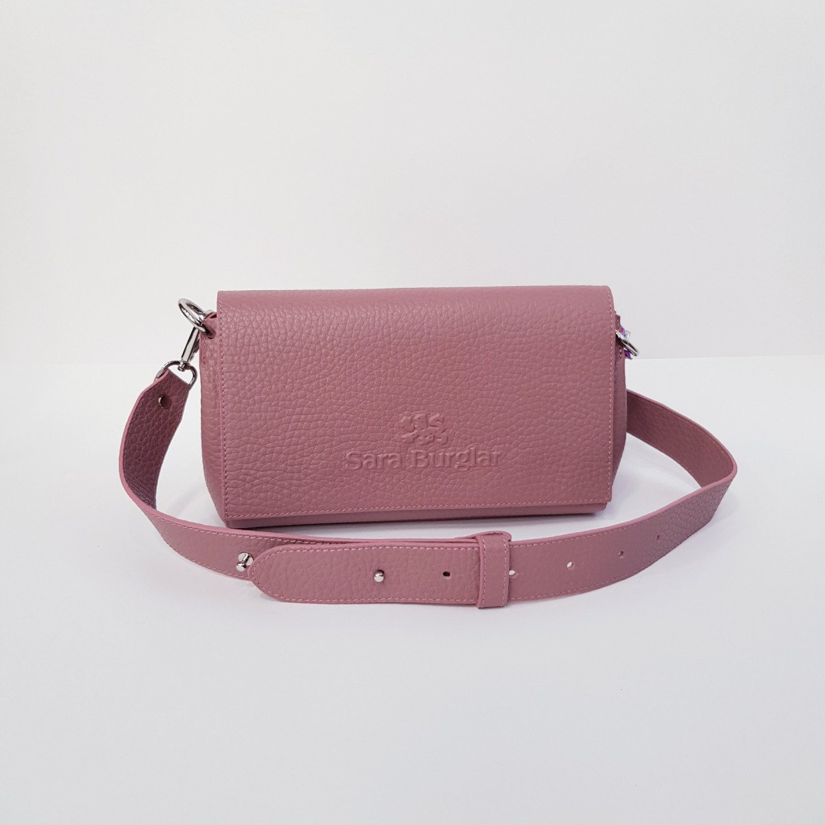 Женская кожаная сумка Sara Burglar A0W0Q1131 ROSA из натуральной кожи