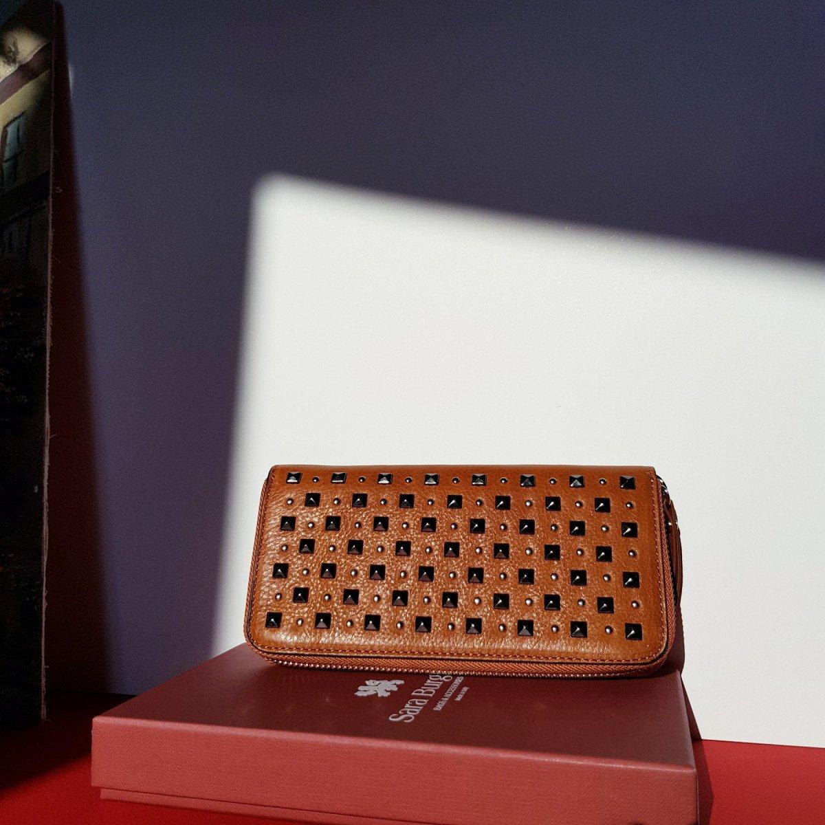 Женский кожаный кошелек Sara Burglar D1S1W110 CUOIO из натуральной кожи