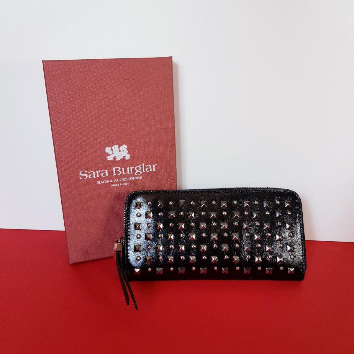 Женский кожаный кошелек Sara Burglar D1S1W110 NERO из натуральной кожи