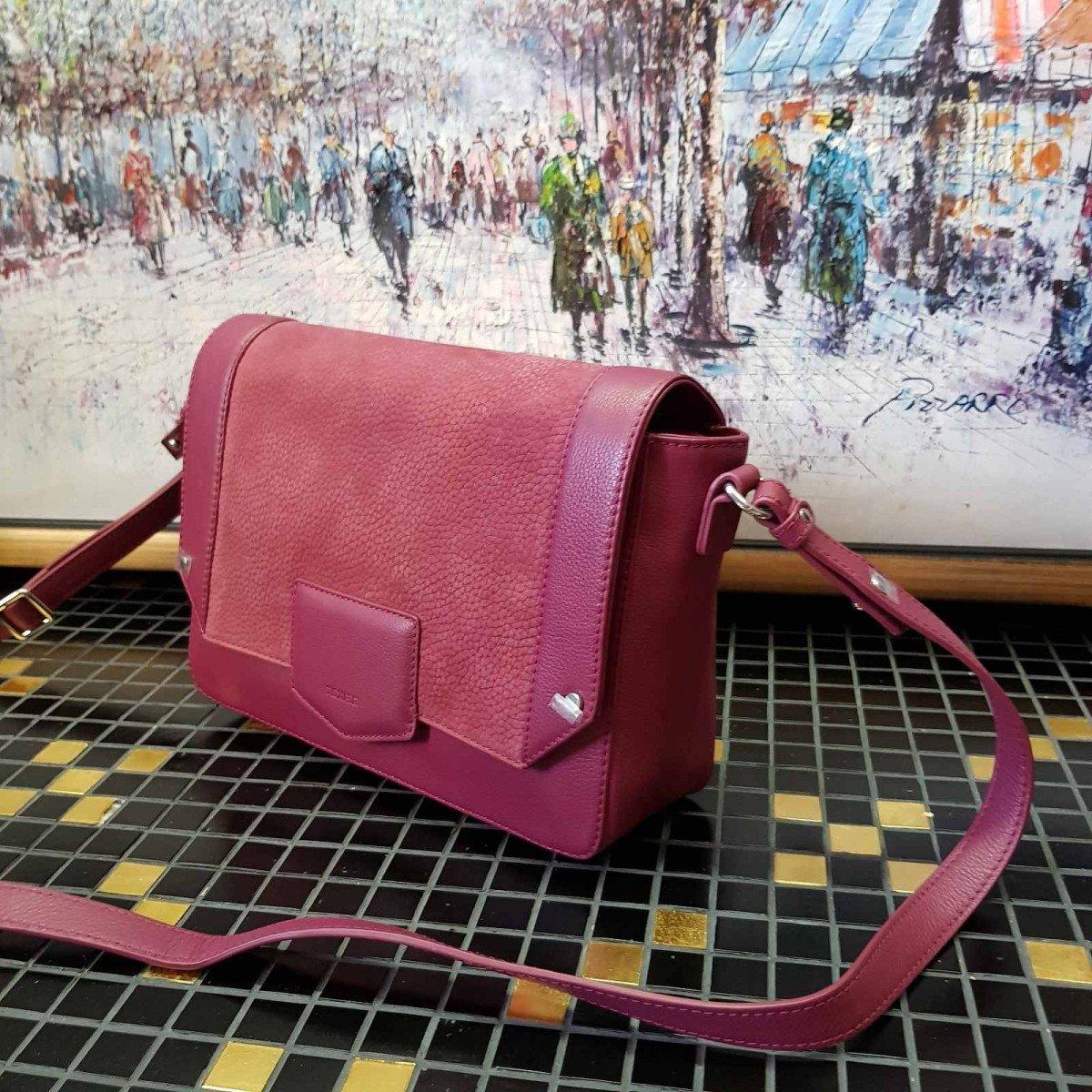 Женская кожаная сумка Texier 108CU112 FRAMBOIS из натуральной кожи