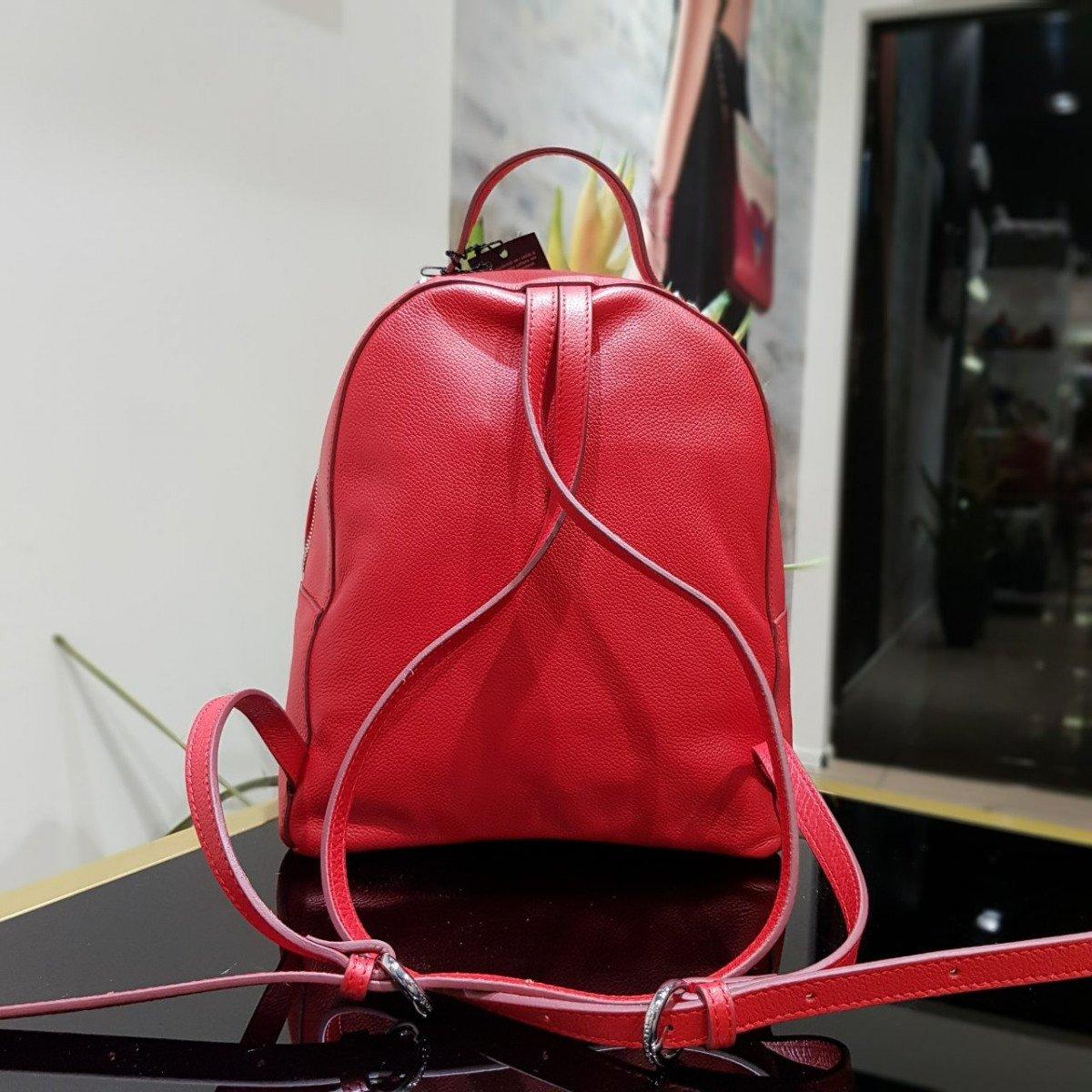 Женский кожаный рюкзак Tosca Blu TS19MB124 red из натуральной кожи