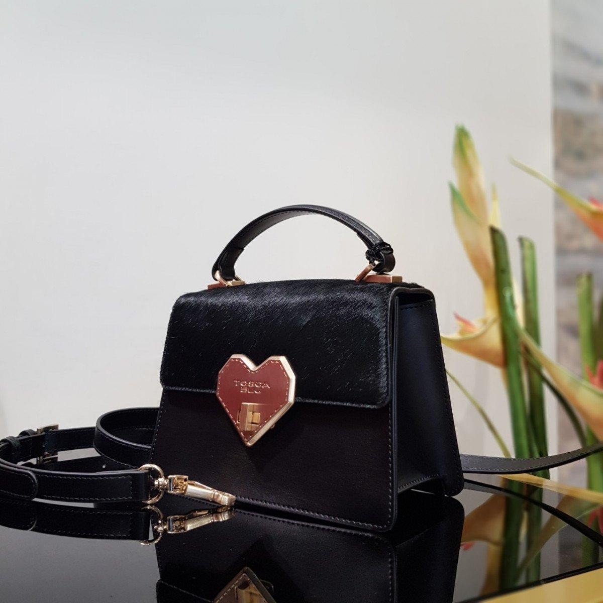 Женская кожаная сумка Tosca Blu TF19OB162 black из натуральной кожи