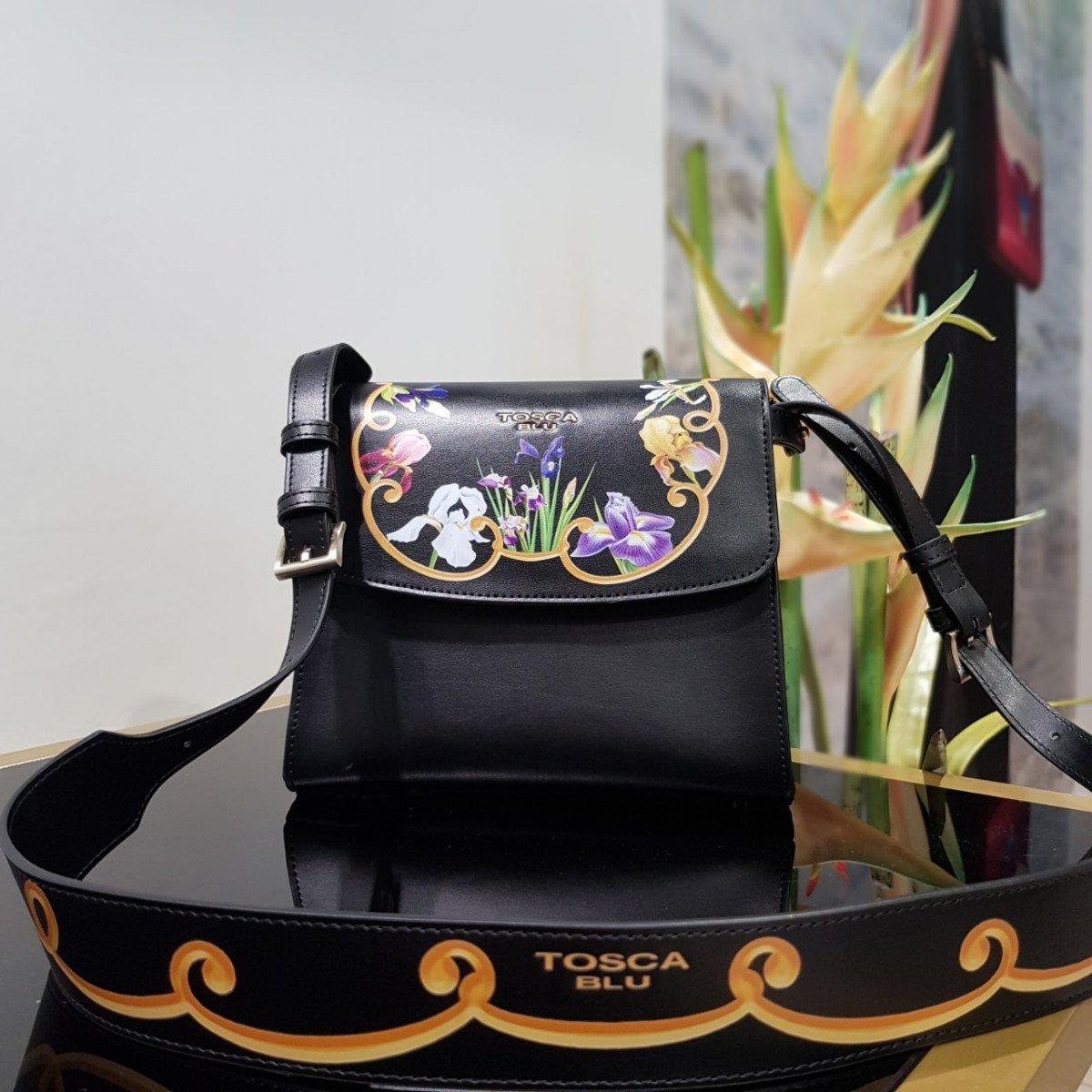 Женская кожаная сумка Tosca Blu TF19RB244 black из натуральной кожи