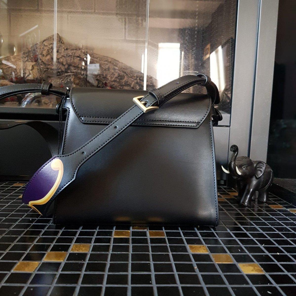 Женская кожаная сумка Tosca Blu TF19RB244 plum из натуральной кожи