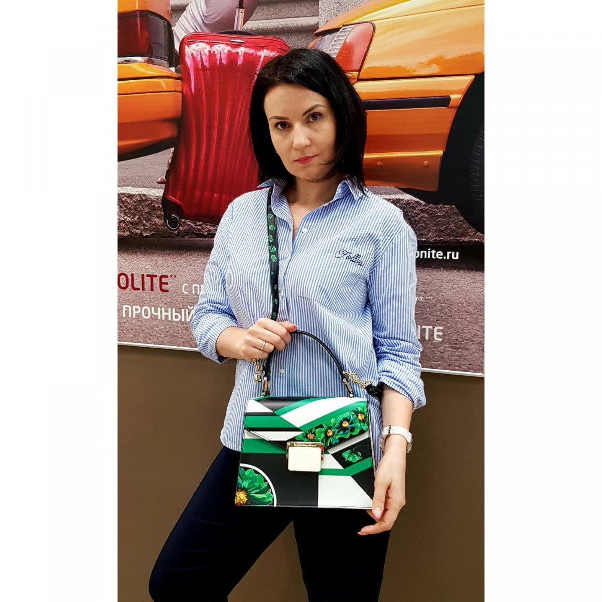 Кожаная женская сумка Tosca Blu TS2013B14 green из натуральной кожи