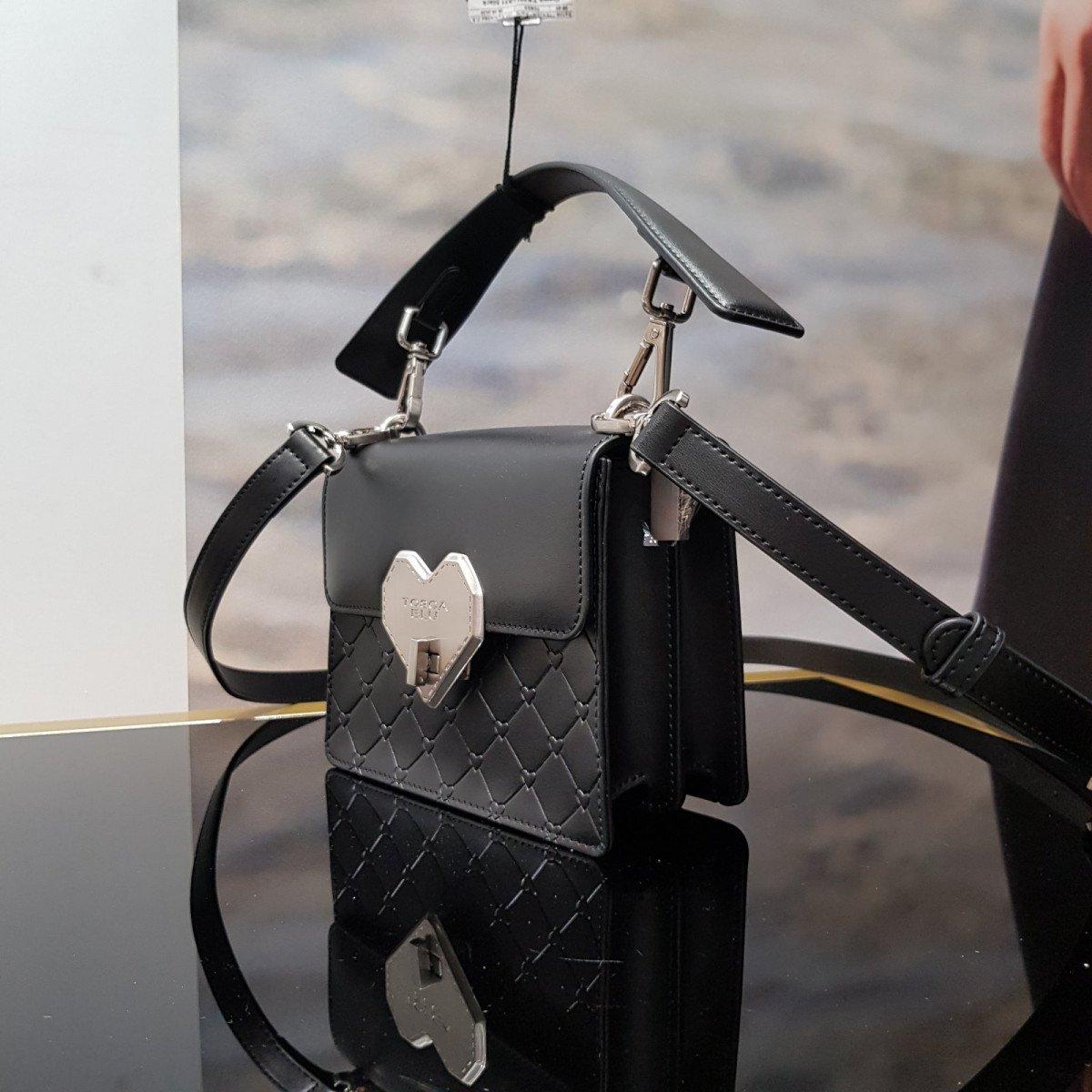Кожаная женская сумка Tosca Blu TS2015B51 black из натуральной кожи