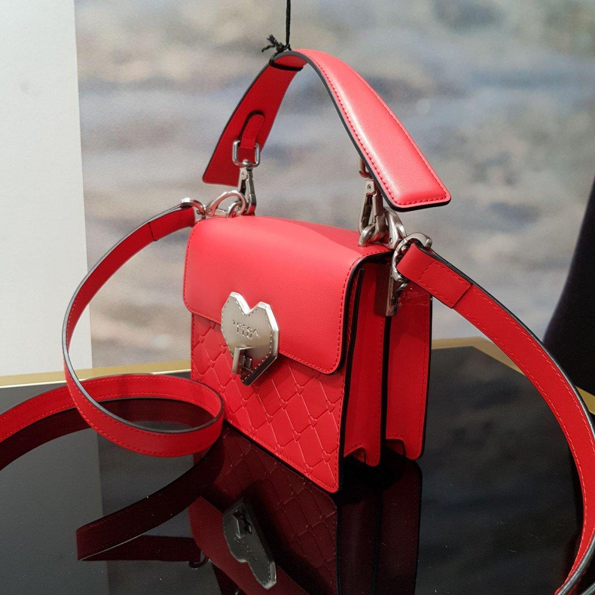 Кожаная женская сумка Tosca Blu TS2015B51 red из натуральной кожи