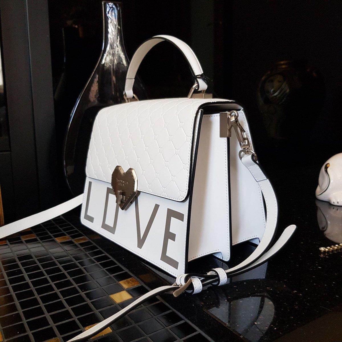 Кожаная женская сумка Tosca Blu TS2017B70 white из натуральной кожи