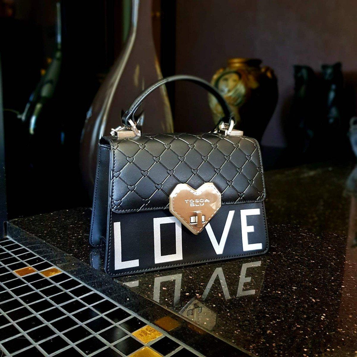Кожаная женская сумка Tosca Blu TS2017B71 black из натуральной кожи
