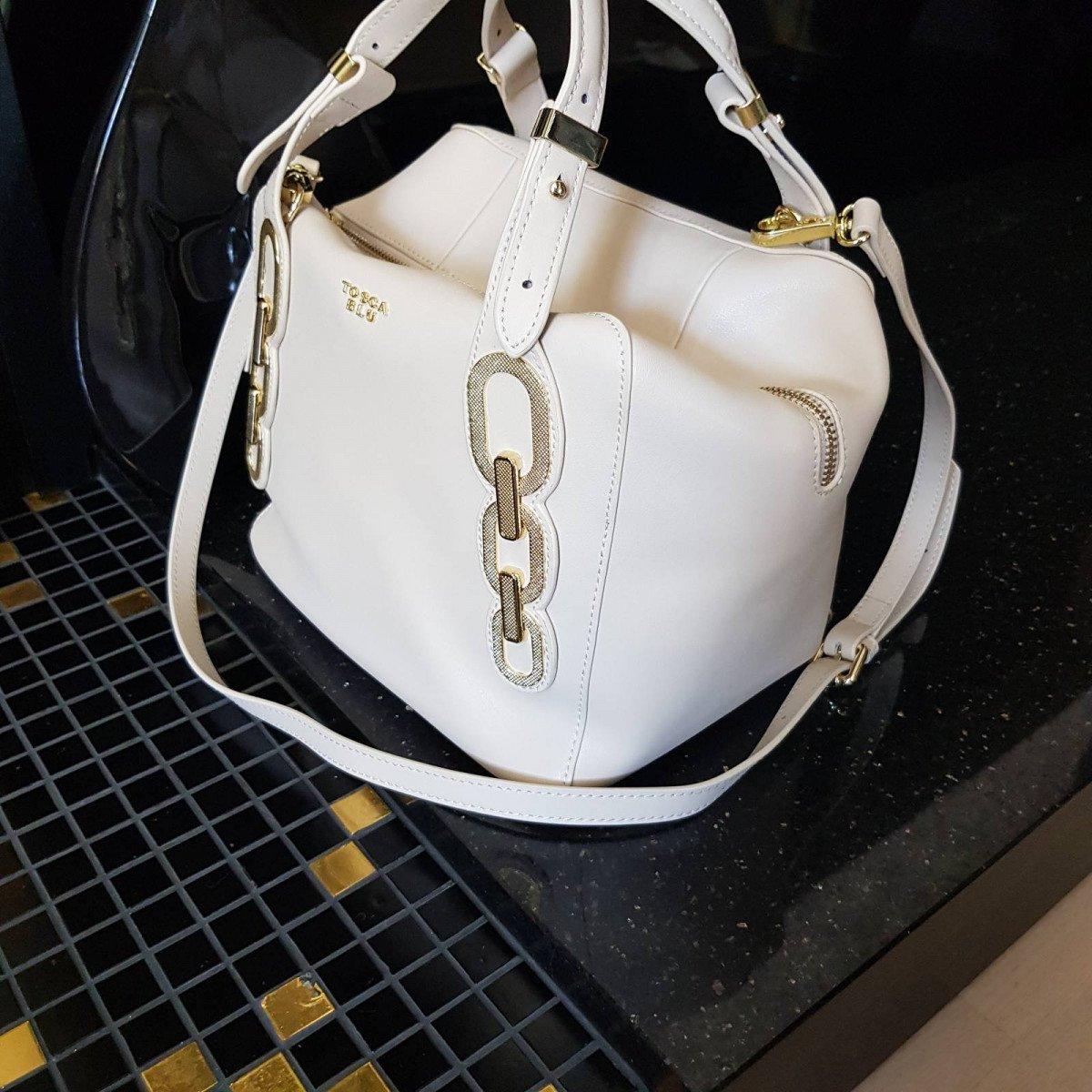 Кожаная женская сумка Tosca Blu TS202B234 ivory из натуральной кожи