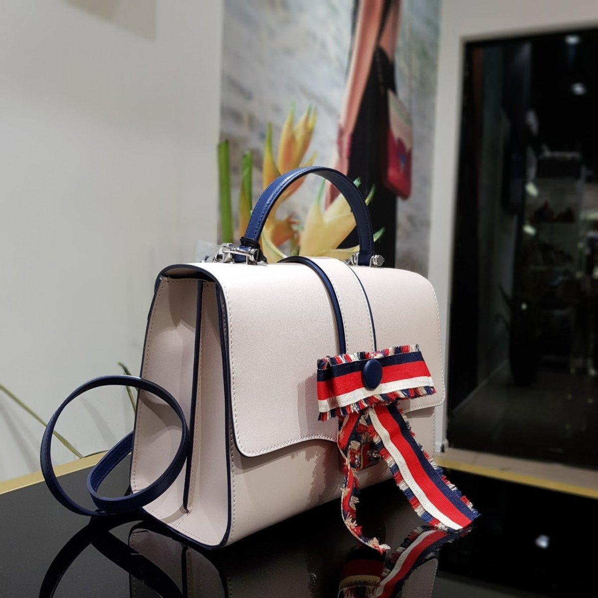 Женская кожаная сумка Tosca Blu TS198B280 ivory из натуральной кожи
