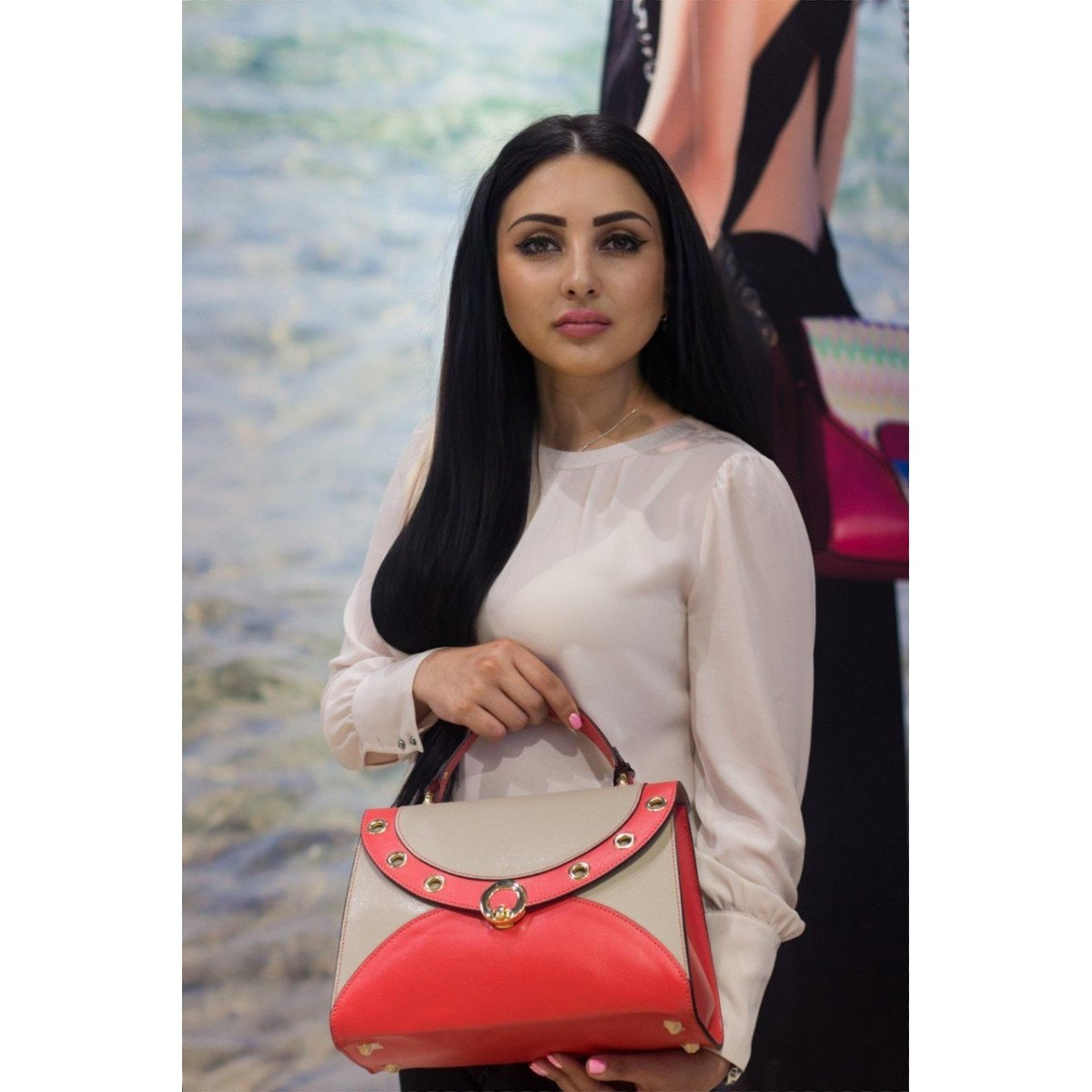 Женская кожаная сумка Tosca Blu TS19FB290 coral из натуральной кожи