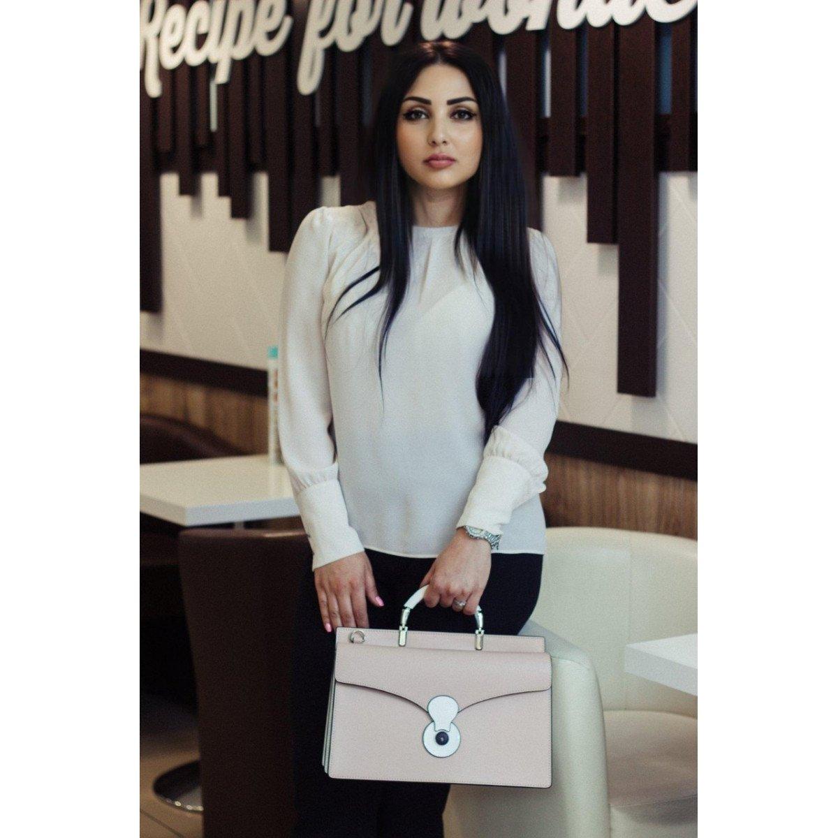 Женская кожаная сумка Tosca Blu TS19RB370 white pink из натуральной кожи