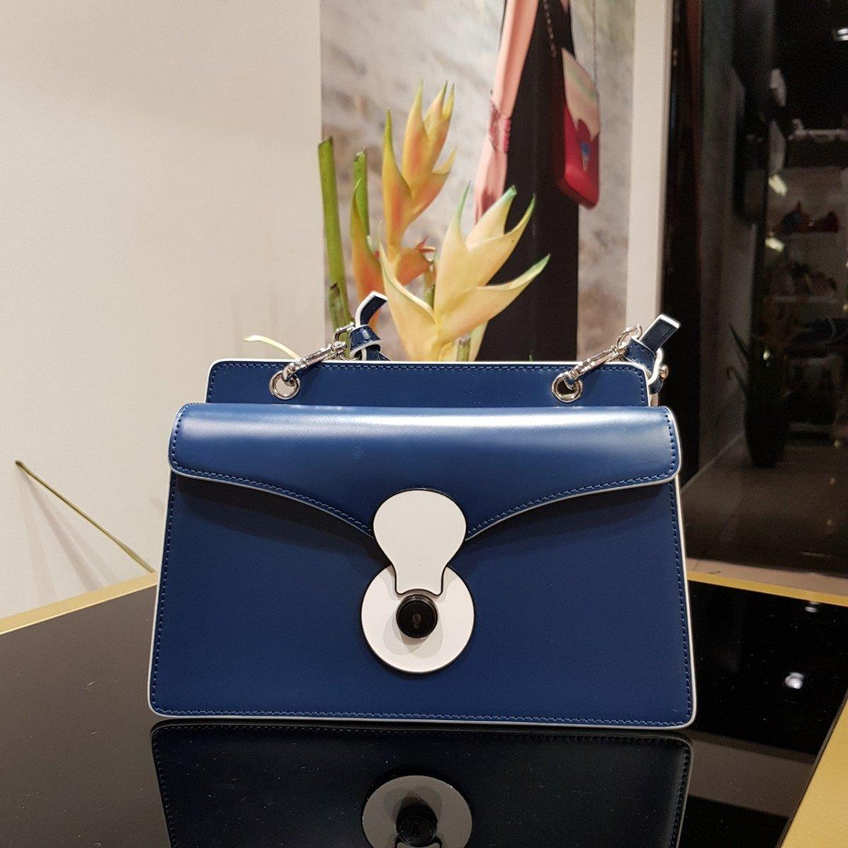 Женская кожаная сумка Tosca Blu TS19RB371 blue из натуральной кожи
