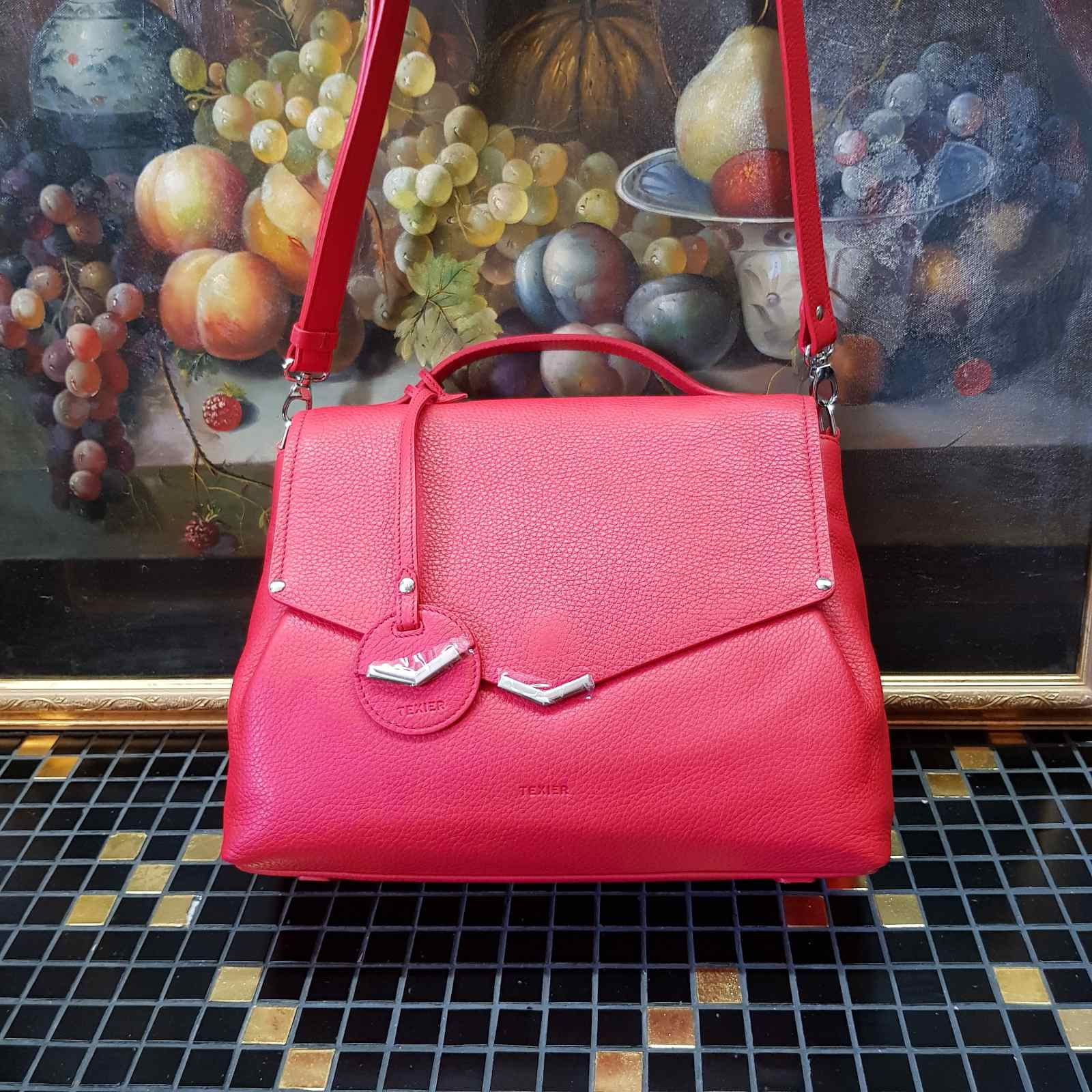 Брендовая женская кожаная сумка сэтчел (фото 1)